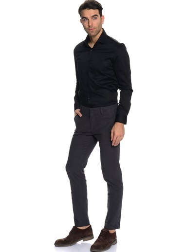 Cotton Bar Uzun Kollu Gömlek Siyah